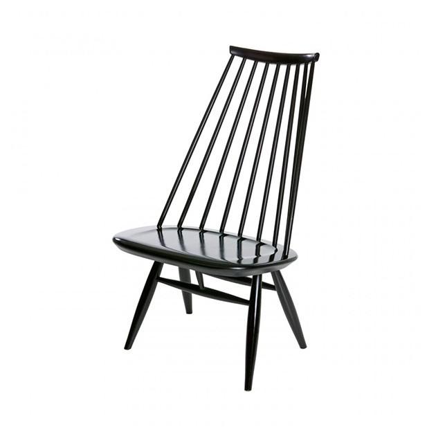 Lounge chair Mademoiselle lacado negro de Artek