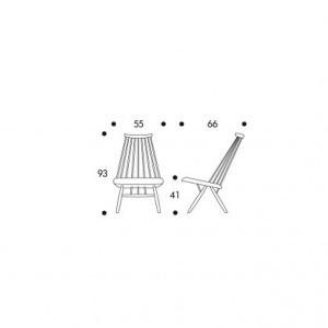 dimensiones Lounge chair Mademoiselle de Artek