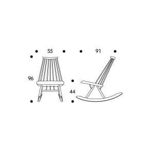 dimensiones Rocking chair Mademoiselle de Artek