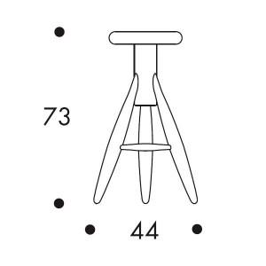 dimensiones Taburete Rocket de Artek