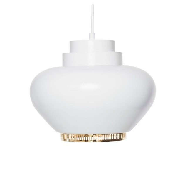 Lámpara de suspensión A333 anillo latón de Artek