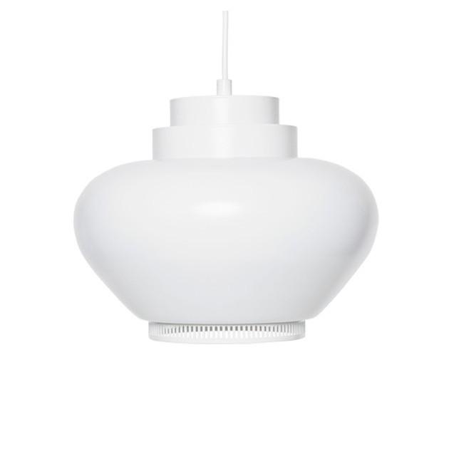 Lámpara de suspensión A333 anillo blanco de Artek