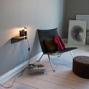Habitación interior Lámpara sunday color negro de northern Lighting. Disponible en Moisés showroom