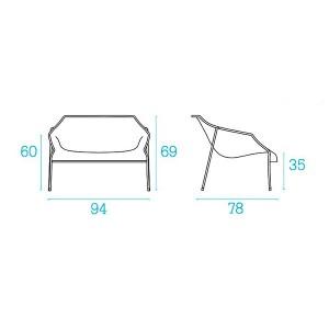 medidas sillón Heaven diseño Emu