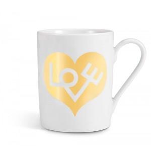 Coffe Mug Love Heart Gold - Vitra