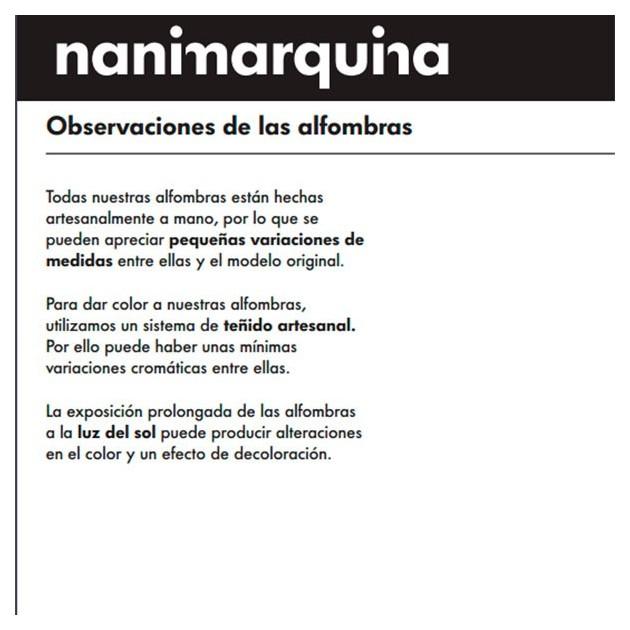 recomendaciones fabricante Alfombra Melange Pattern 1 Nanimarquina