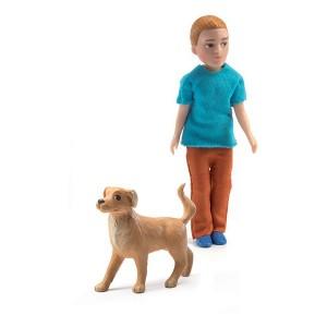 Xavier con su perro - Djeco