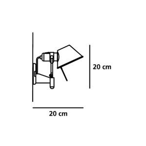 medidas aplique de pared Tolomeo Micro Artemide