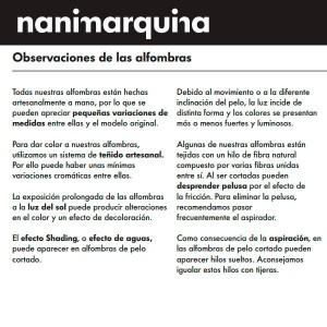 Información Alfombra Quill M Nanimarquina