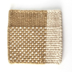 muestra tejido Alfombra Tres color ocre Nanimarquina