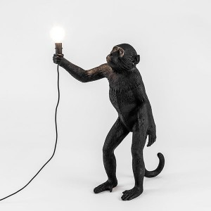 Monkey Lamp Black Edition Pie - Seletti