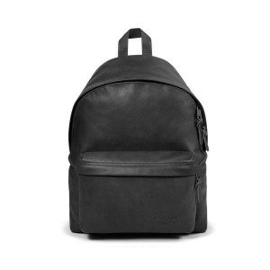 Padded Pak'r Black Leather - Eastpak