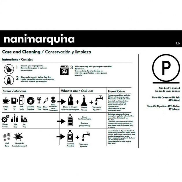 consejos cuidado Alfombra Tres color Perla Nanimarquina