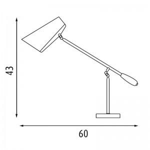 medidas Lámpara de mesa Birdy de Northern Lighting. Disponible en Moisés showroom