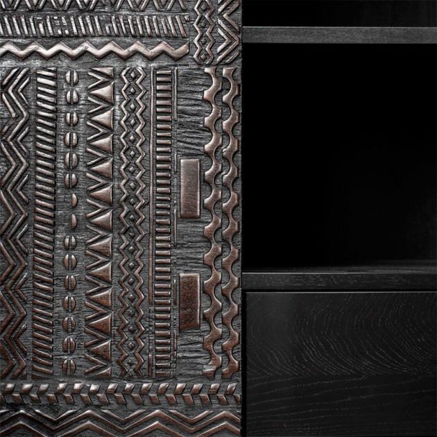detalle puerta Armario Tabwa 4 puertas Ethnicraft