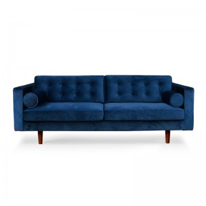 Sofá N101 3 seater Blue Velvet - Ethnicraft
