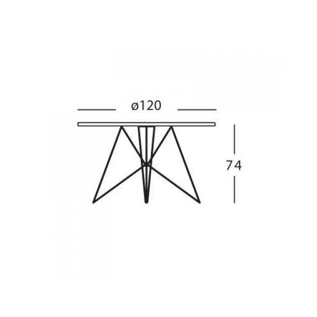 dimensiones Mesa redonda xz3 Magis