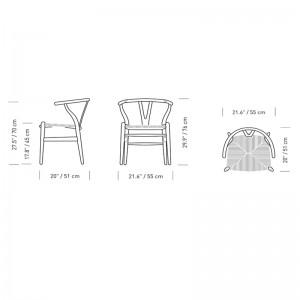 silla CH24 Wishbone haya jabón