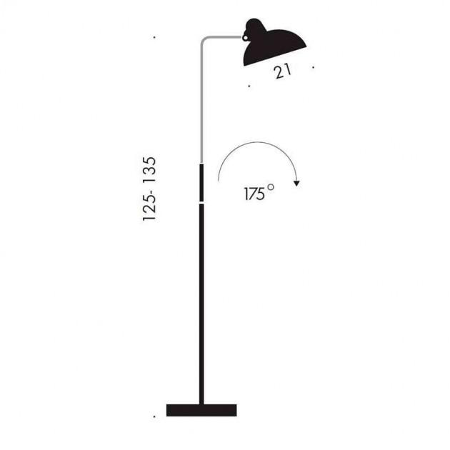 Medidas Lámpara de Pie Kaiser Luxus de Fritz Hansen