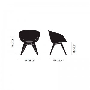 Scoop Low Chair Tom Dixon medidas