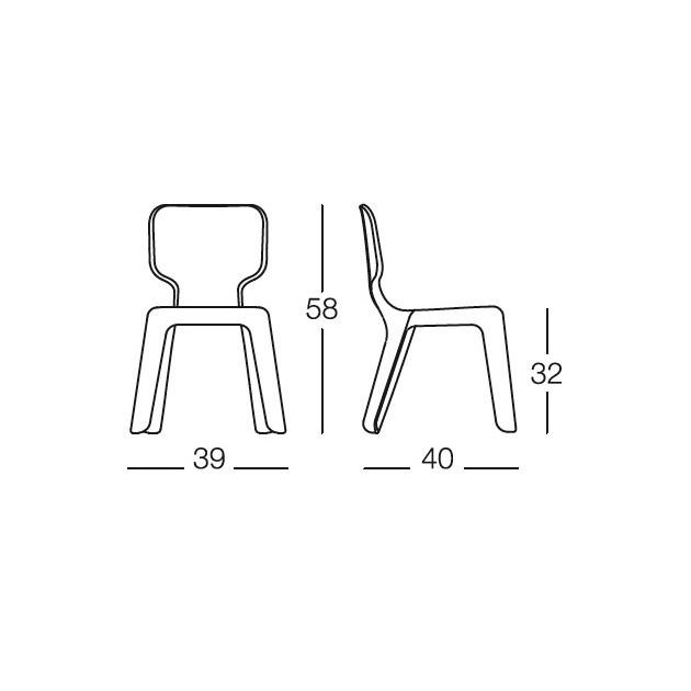 dimensiones sillas Alma Magis me too