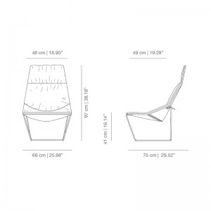 Butaca ACE con base metálica de Viccarbe en Moises Showroom