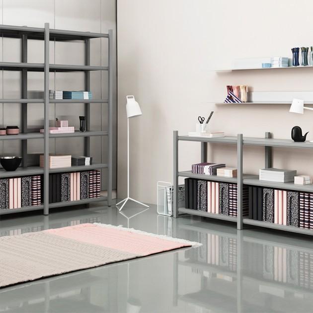 ambiente con Alfombra Trace color rosa y arena de Normann Copenhagen en Moises Showroom