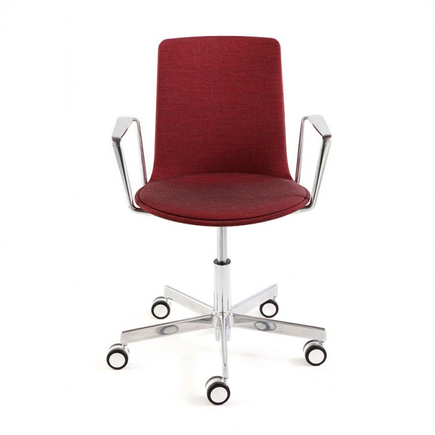 silla Lottus High Office tapizada brazo cromado