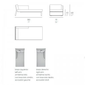 Sofá Modular 2 Flat Gandia Blasco