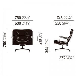 Lobby Chair 105 Vitra medidas