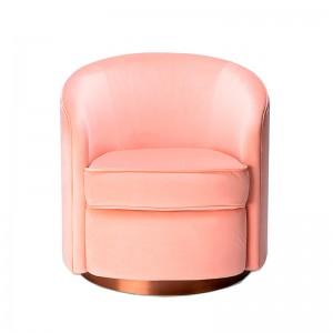 Sillón Swivel Terciopelo rosa - Ethnicraft