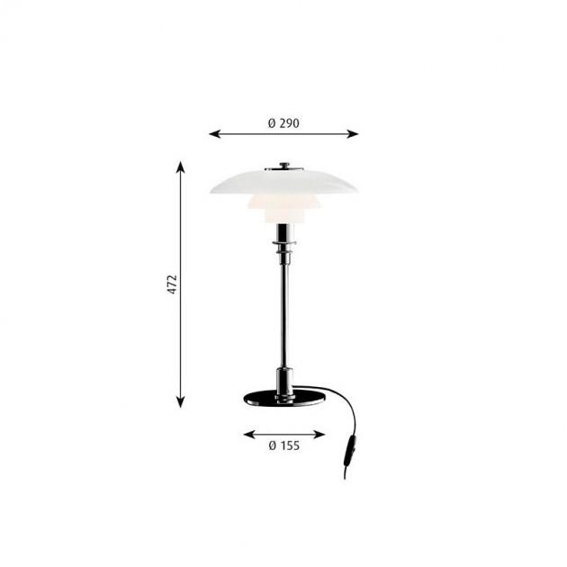 Lámpara PH 3/2 Table Louis Poulsen medidas