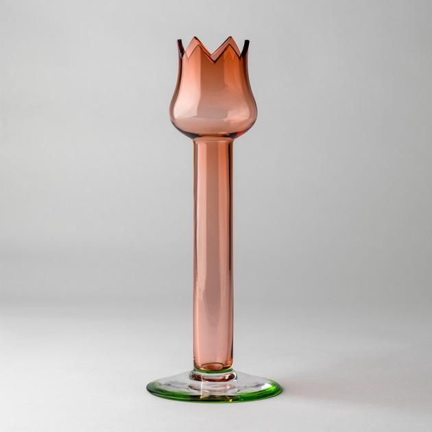 Jarrón y candelabro Red Tulip de BD Barcelona