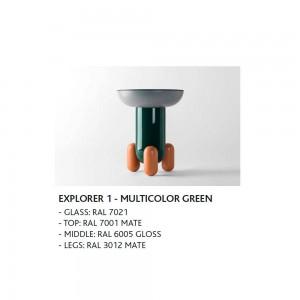 Mesas Explorer diseñadas por Jaime Hayon para BD Barcelona en Moises Showroom
