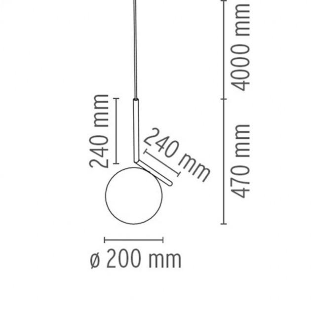 Lámpara IC S1 Flos medidas