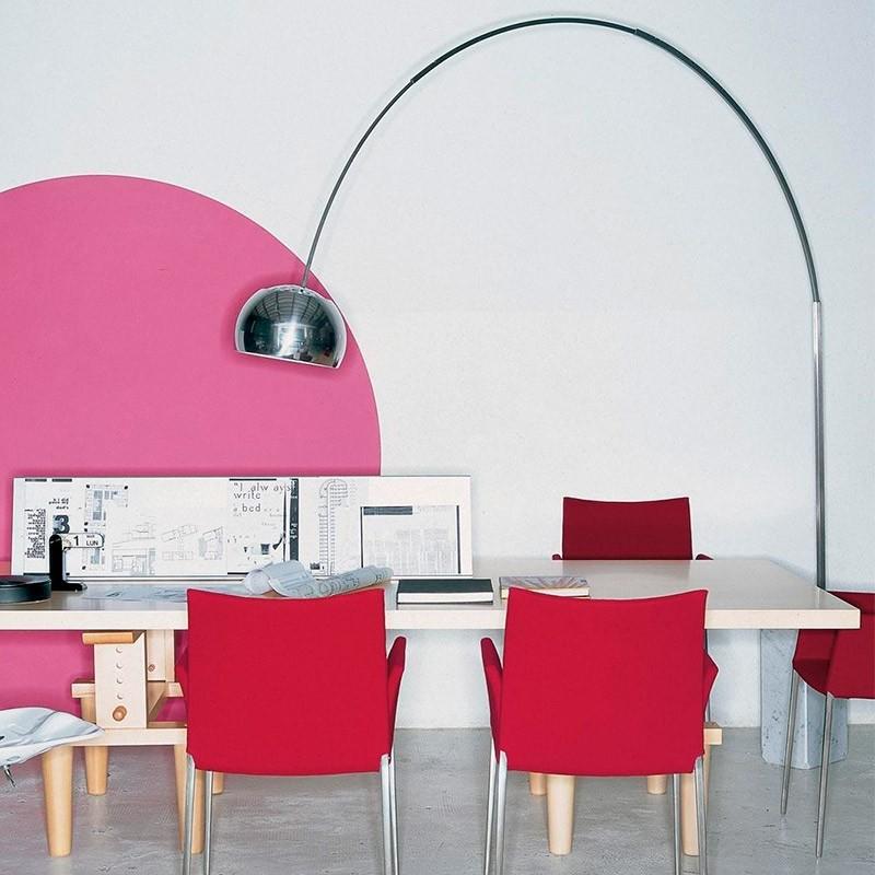 original Lámpara Arco Flos Showroom Moises pie 8wvnNm0