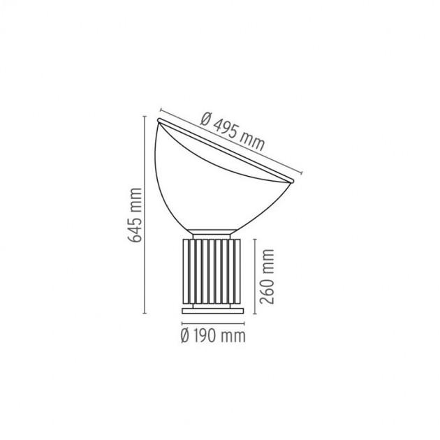 Lámpara Taccia (PMMA) Flos medidas