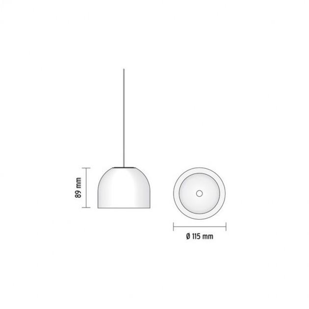 Lámpara Wan S suspensión Flos medidas