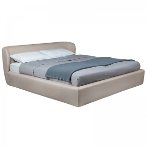 Cama Stay bed de Gubi con cabecero bajo en Moises Showroom