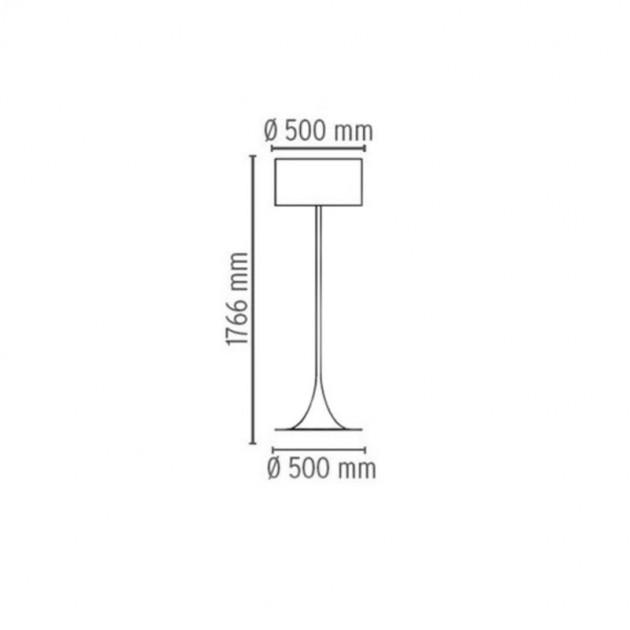 Lámpara Spun Light F Flos medidas