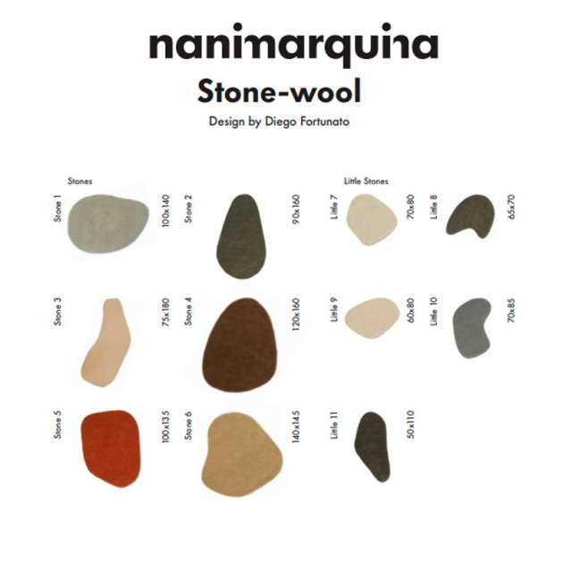Alfombra Stone 4 Nanimarquina tamaños