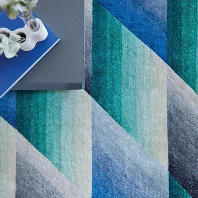 Alfombra Mirage Blue de Gan Rugs en Moises Showroom