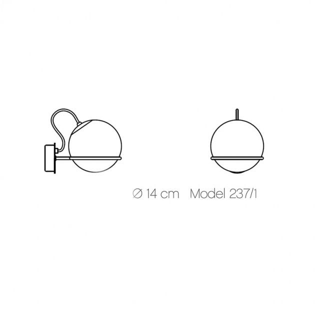 Lámpara Model 237/1 Astep medidas