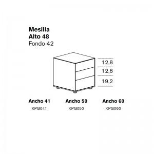 Mesilla Lauki con 3 cajones de Treku en Moises Showroom