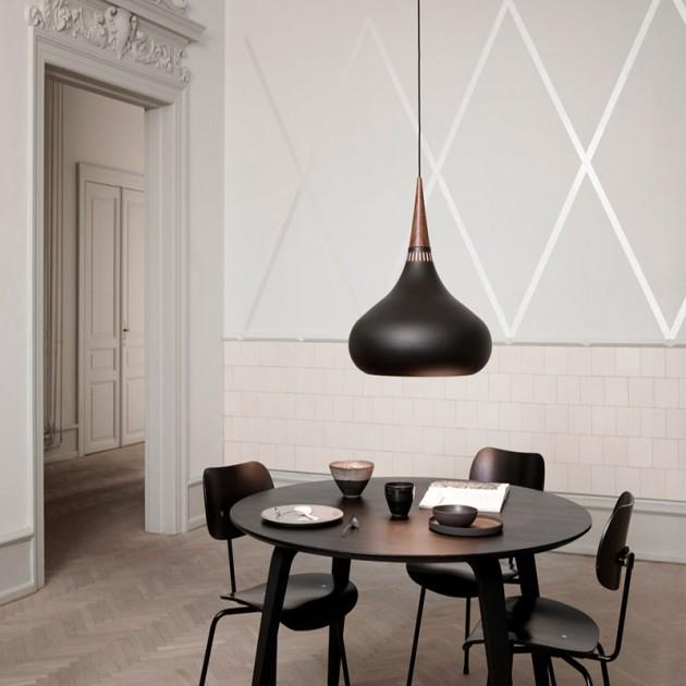 Ambiente mesa comedor Lámpara Orient P2 color black Fritz Hansen