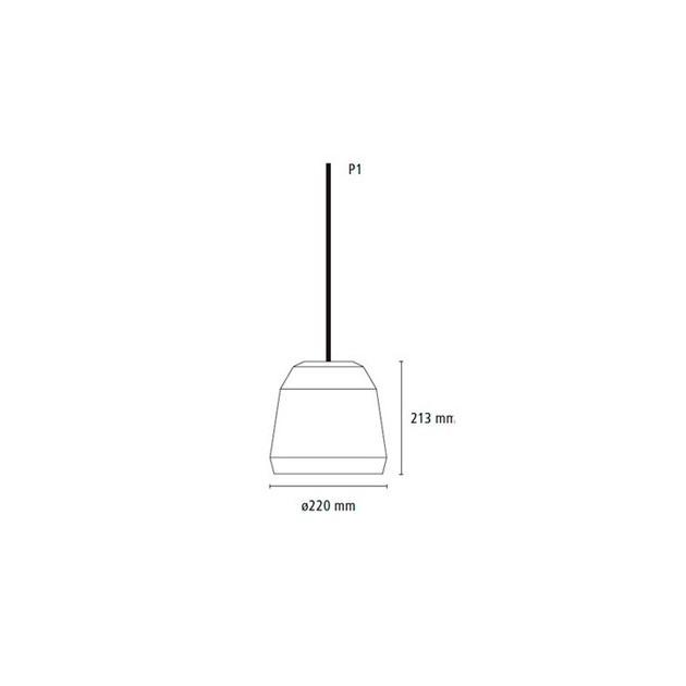 Medidas lámpara Mingus P1 Fritz Hansen