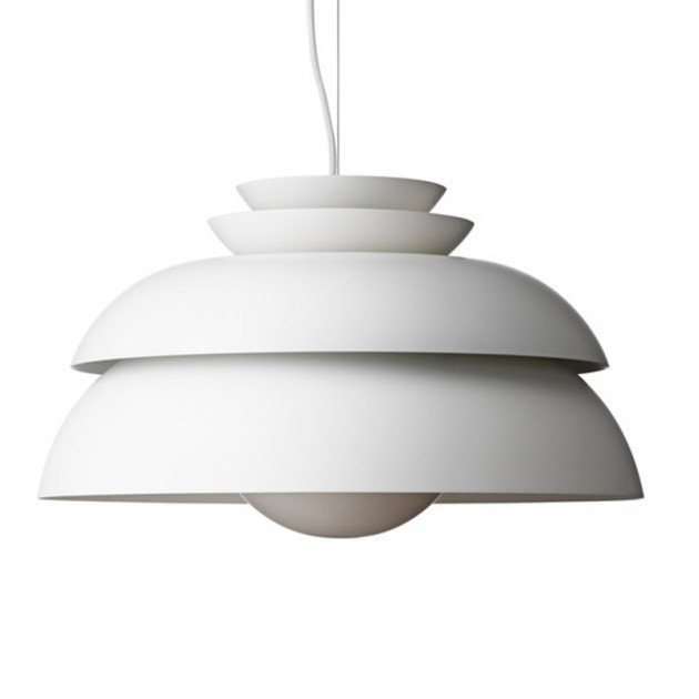 Lámpara Fritz Hansen Concert P3 color blanco