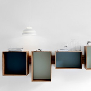 Ambiente con Lámpara de suspensión Concert p1 de Fritz Hansen color blanco