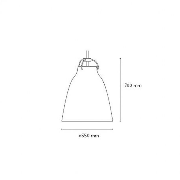Medidas lampara caravaggio matt p4 Fritz Hansen