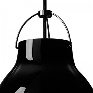Detalle Lámpara Caravaggio P2 Black Black Fritz Hansen